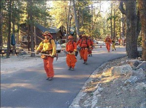 Picture of Firemen marching